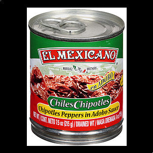 El Mexicano Chiles Chipotles Chipotle Peppers In Adobo Sauce, 7.5 OZ
