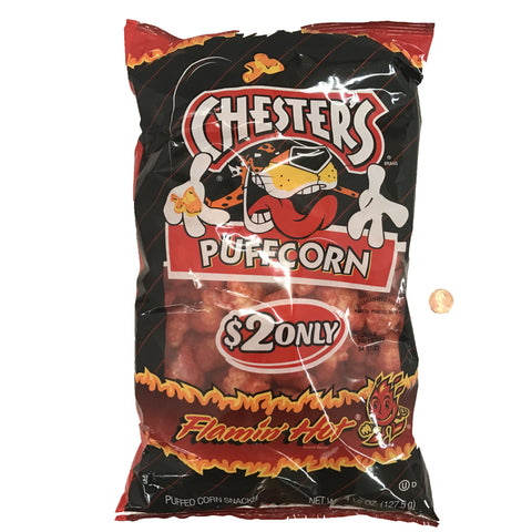 Chesters Puffcorn Flamin' Hot 4.5 OZ