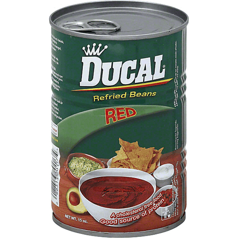 Ducal Refried Beans, Red 15 OZ