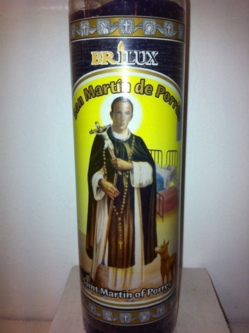 Saint Martin of Porres 7 Day Unscented Candle in Glass (San Martin De Porres) 1 EA