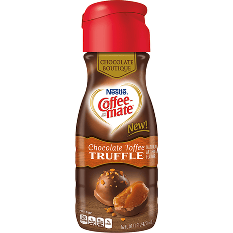 Nestle Coffeemate Chocolate Toffee Truffle Liquid Coffee Creamer 16 fl. oz. Bottle 16 OZ