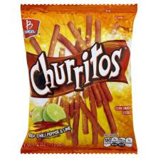 Churritos Corn Sticks Chili Lime 4 OZ