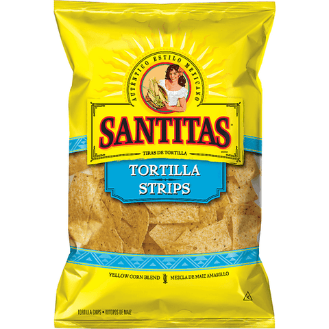 Santitas White Corn Tortilla Strips 11 oz. Bag 11 OZ