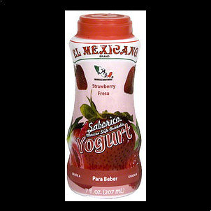 El Mexicano Drinkable Yogurt Strawberry 7 OZ
