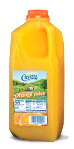 CRYSTAL CREAMERY ORANGE JUICE 1/2 GL Half Gallon