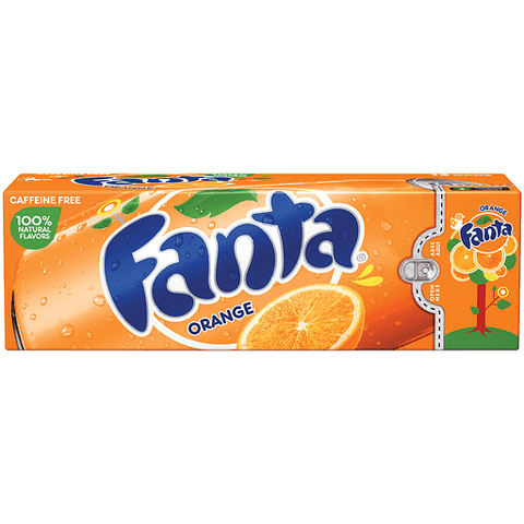 Fanta Orange Soda Caffeine Free 12 PK