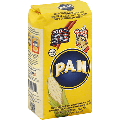 PAN Corn Meal, White, Pre-Cooked 35 OZ