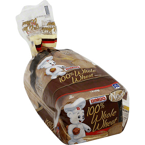 Bimbo Bread, 100% Whole Wheat 16 OZ