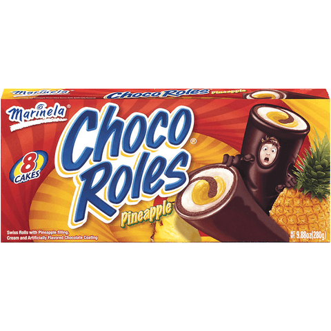 Marinela Swiss Rolls, Choco Roles Pina 8 CT