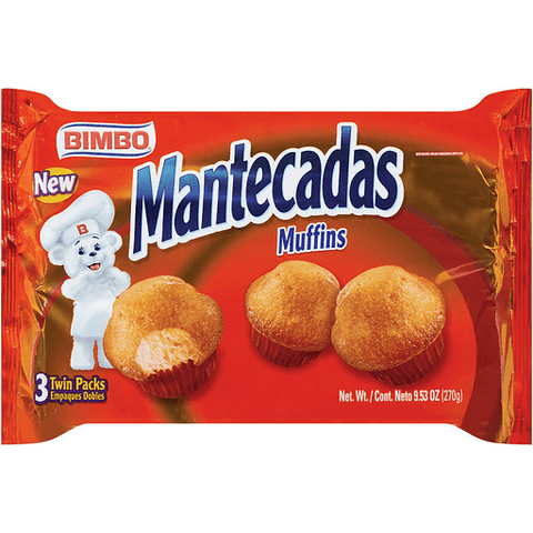 Bimbo Muffins, Mantecadas, Twin Packs 6 CT