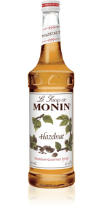 Monin Premium Hazelnut Syrup 750ml/25.4 FL OZ - Beverage Solutions