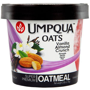 Umpqua Oats - Vanilla Almond Crunch All Natural Oatmeal (12 pack) - Beverage Solutions