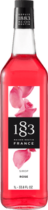1883 Rose Syrup 1 Liter/33.8 FL OZ Bottle - Beverage Solutions