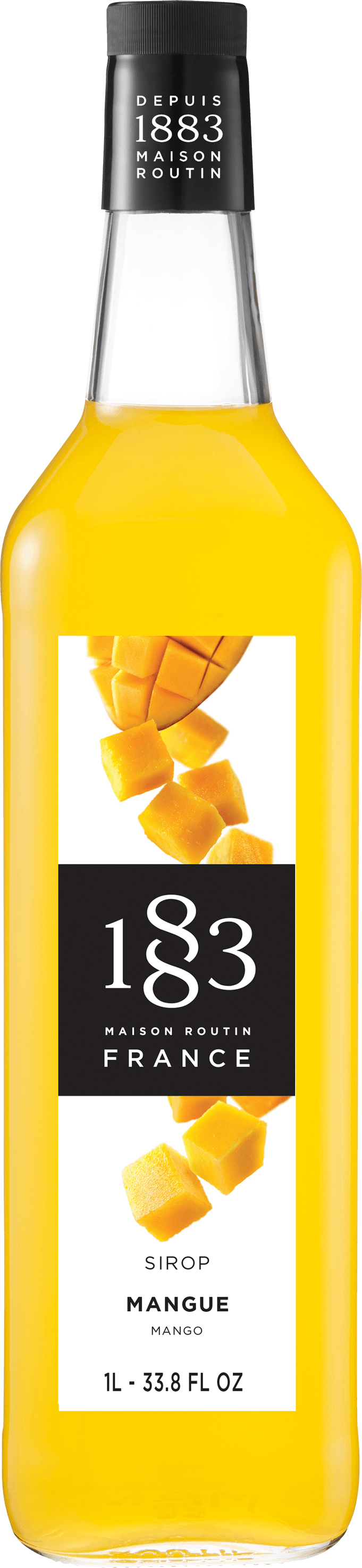 1883 Mango Syrup 1 Liter/33.8 FL OZ Bottle - Beverage Solutions