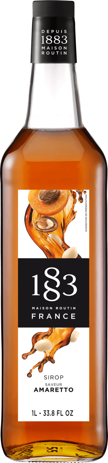 1883 Amaretto Syrup 1 Liter/33.8 FL OZ Bottle - Beverage Solutions