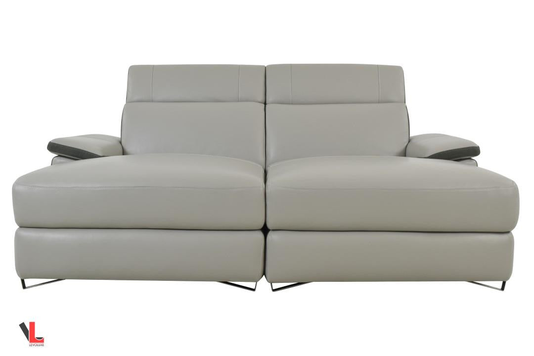 Aura Top Grain Leather Double Chaise Loveseat  sc 1 st  Levoluxe : double chaise loveseat - Sectionals, Sofas & Couches