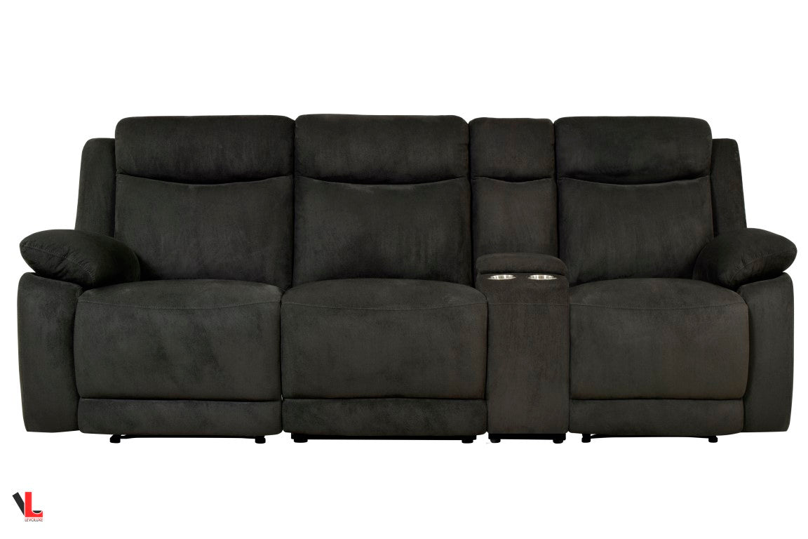 fabric recliner sofa canada www energywarden net Fabric Reclining Sofa Langston Collection Reclining Sectional Sofa with Console