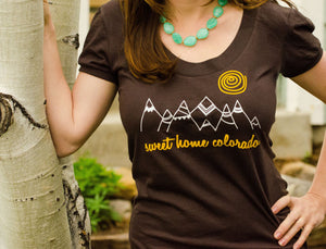 Sweet Home Colorado Womens Graphic Tee