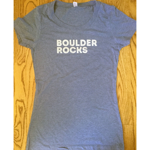 Boulder Rocks Women's Tshirt-Hens and Chicas
