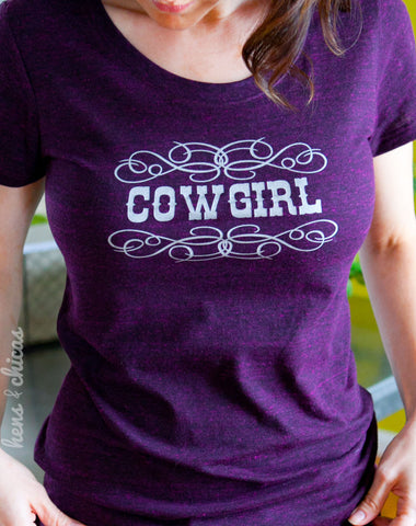 Cowgirl sparkle womens tshirt-Hens and Chicas