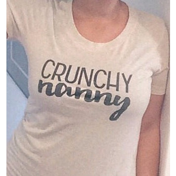 Crunchy Nanny Womens Tshirt-Hens and Chicas