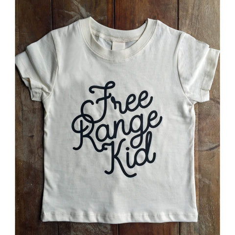 Free Range Kid Tshirt for Free Range Children and Toddlers, Organic cotton-Hens and Chicas