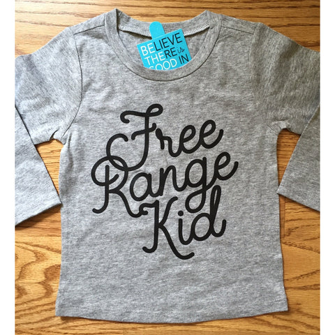Free Range Kid Tshirt for Free Range Children-Hens and Chicas