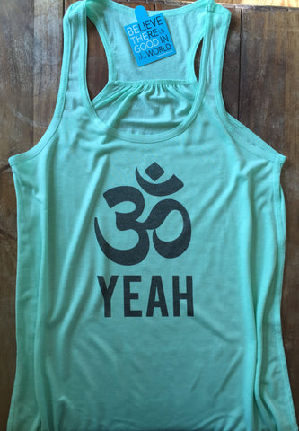Om Yeah Yoga Tank Top-Hens and Chicas