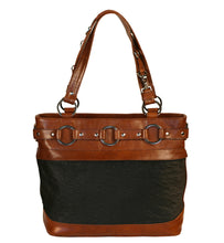 Jessica Tote Bag System -Tote plus a FREE Jessica Black/Brown Multi Leather cover
