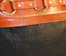Jessica Tote With Attached Black Embossed Ostrich Cover