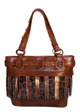 Attachable Brown Leather Fringe for Jessica Tote Bag