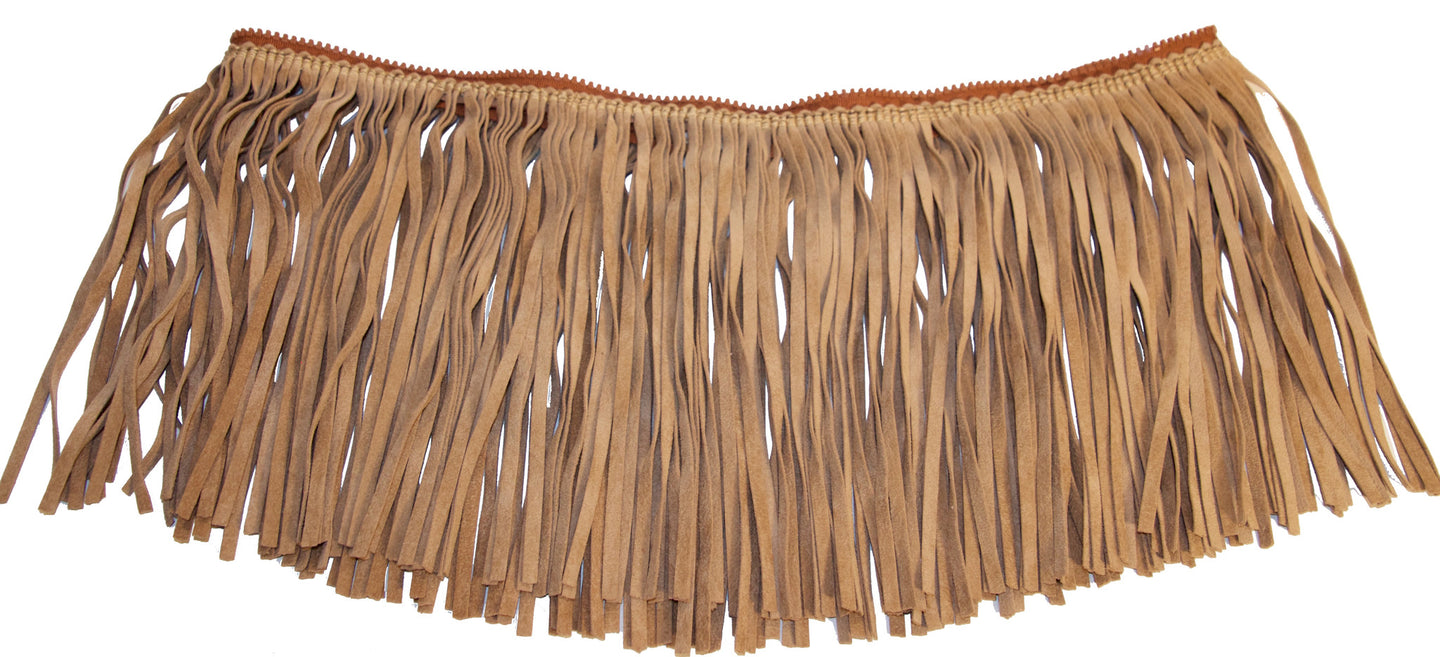 Attachable Beige Sueded Fringe for Jessica Tote Bag