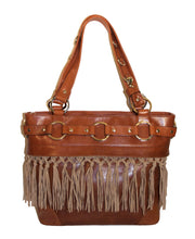 Attachable Beige Knotted Sueded Fringe for Jessica Tote Bag