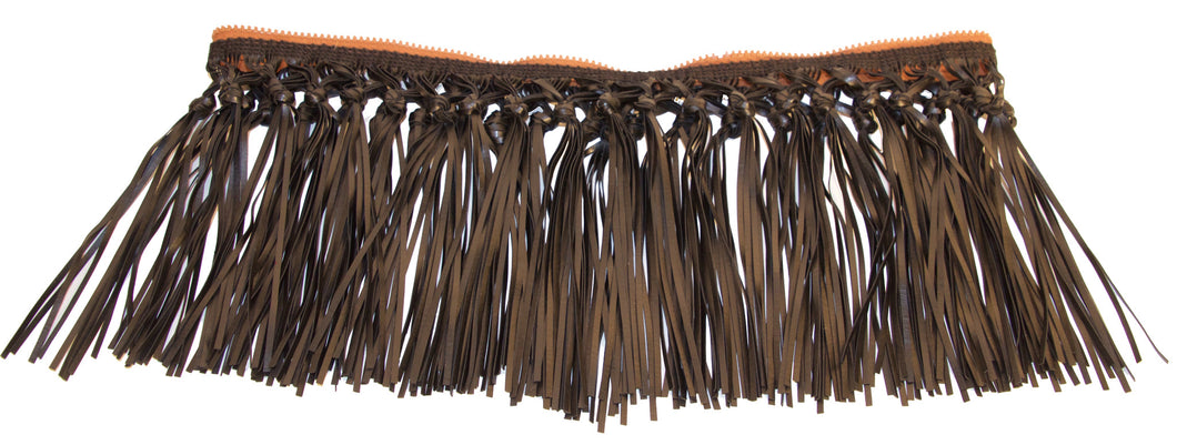 Attachable Black Vegan Leather Knotted Fringe for Jessica Tote Bag