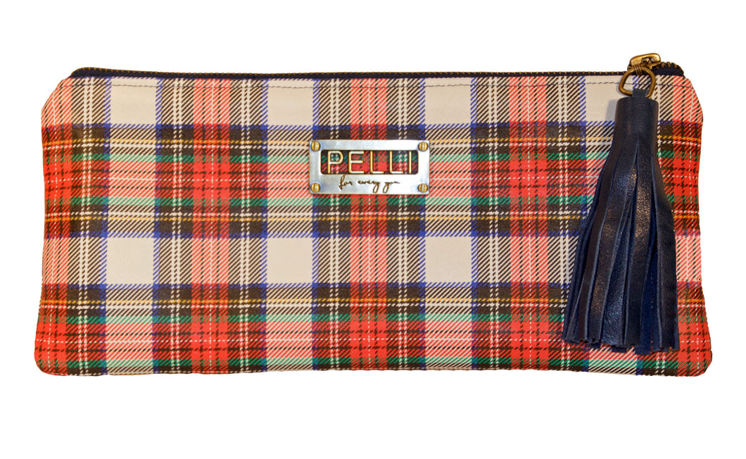 Kerry Clutch Tartan Plaid Leather