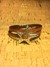 Starfish Leather Wrap Bracelet