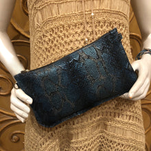Abbey Convertible Clutch- Blue & Grey