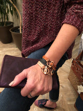 Antique Copper Toggle Leather Bracelet