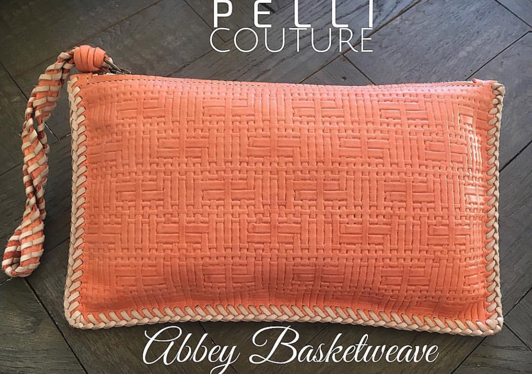 Abbey Basketweave Convertible Clutch