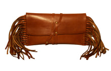 Lauren Convertible Single Strap Wrap Clutch-Natural Edge-Cognac