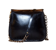 Tenley Crossbody Saddle Bag- Brown Hair-On leather hide