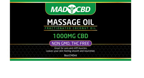 Mad CBD Massage Oil 1000mg