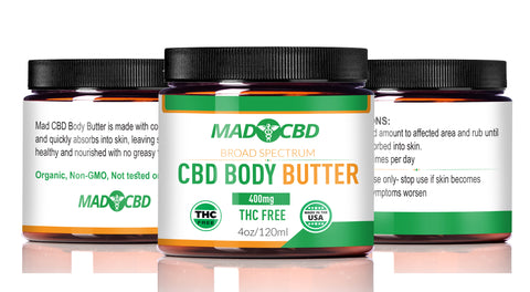 Mad CBD 400mg Body Butter with Terpenes