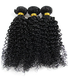 Brazilian Virgin Jerry Curl 3 Bundle Deal (same length)