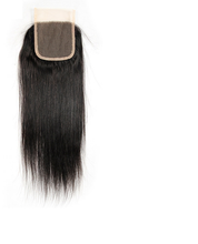 Brazilian Virgin Hair- Lace Closure 4X4-Straight