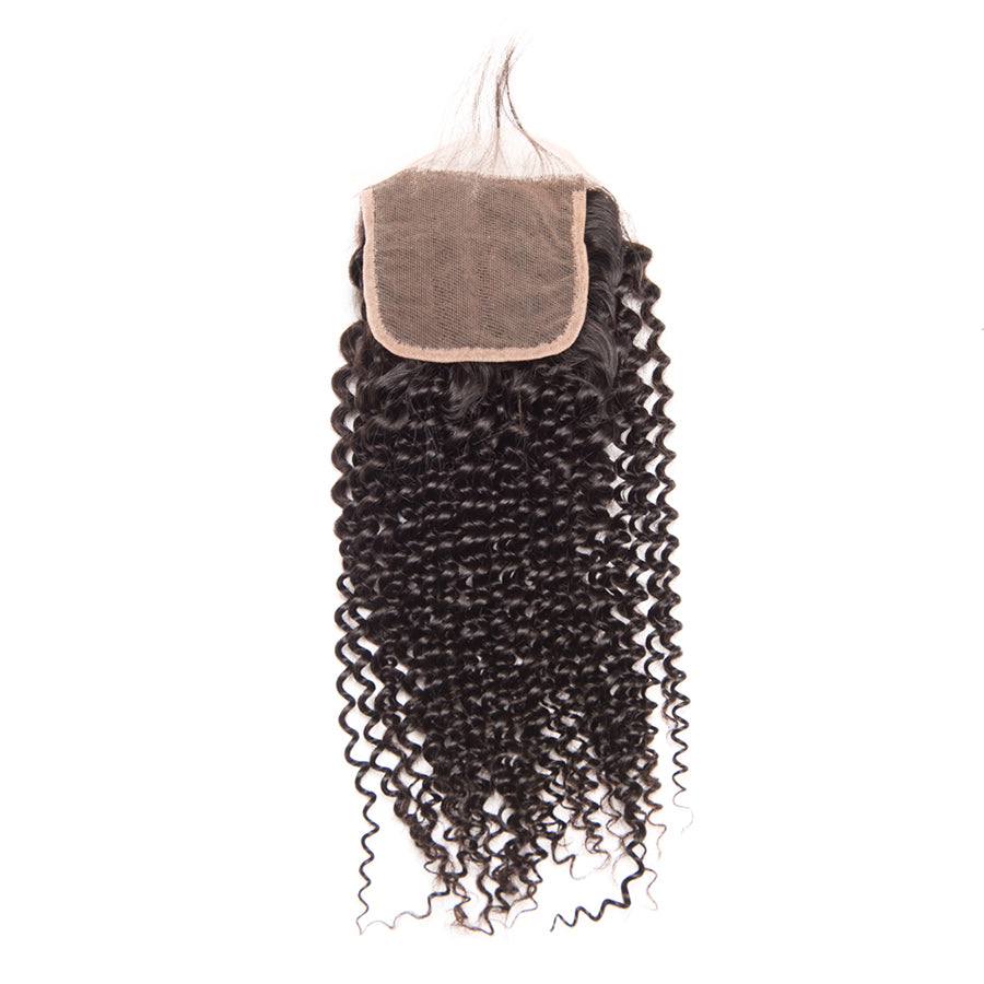Brazilian Virgin Hair- Lace Closure 4X4-Jerry Curl