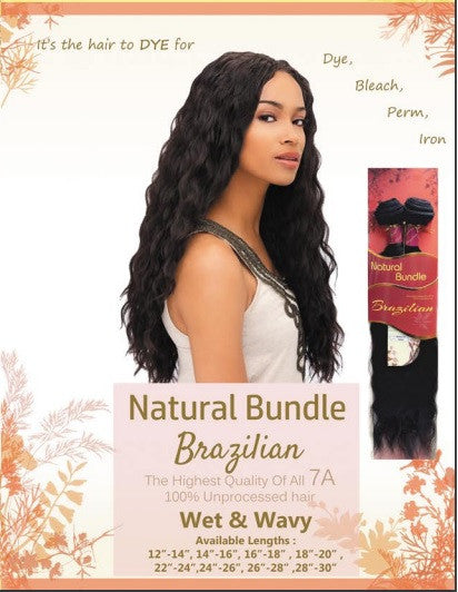 Natural Bundle Brazilian Wet & Wavy