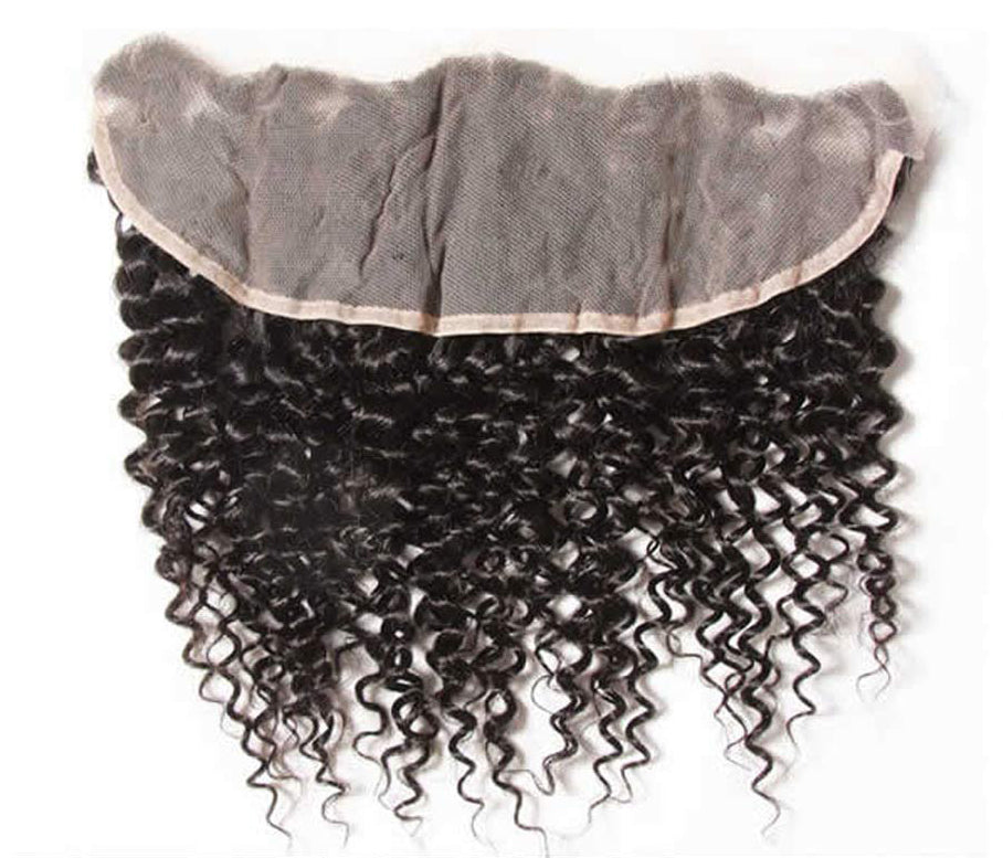 Brazilian Virgin Hair- Lace Frontal 13X4 - Jerry Curl