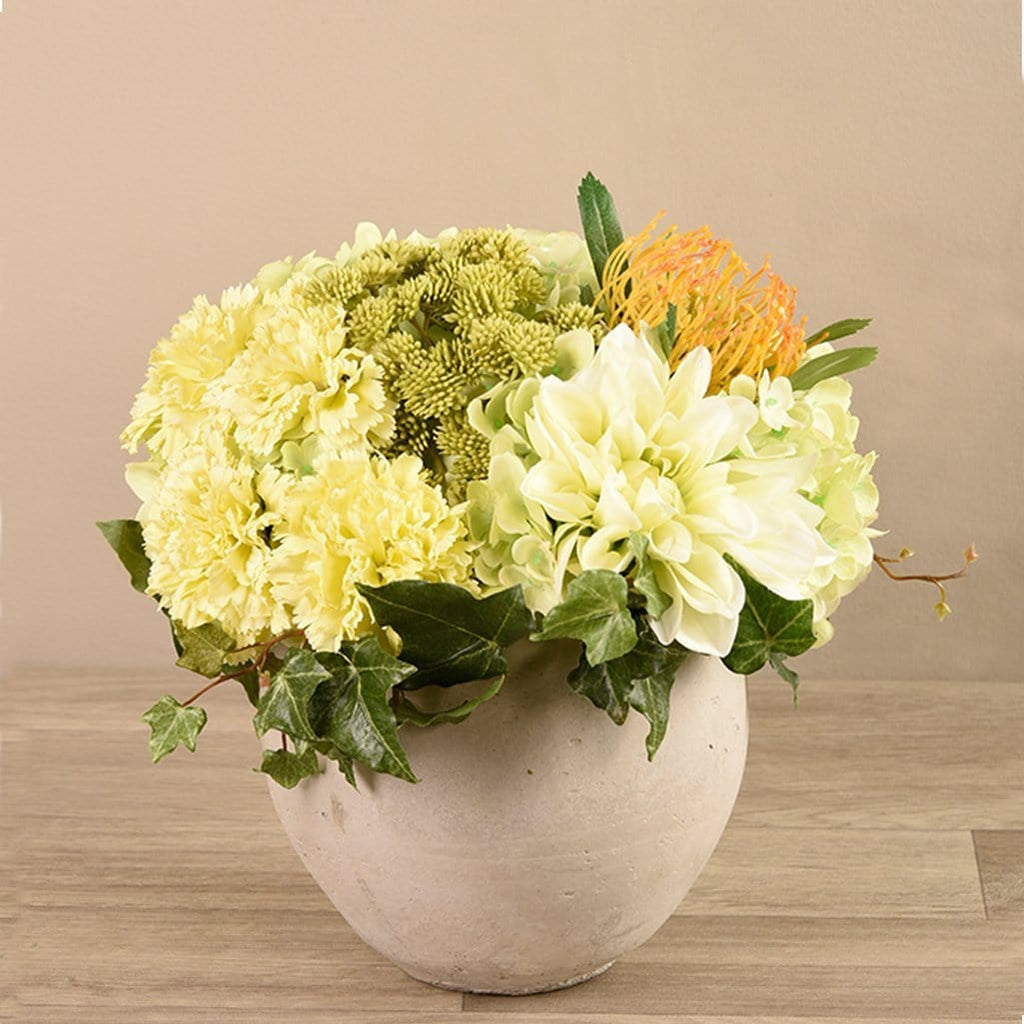 Artificial Flower Arrangement in Concrete Bloomr Artificial Flowers & Artificial Trees