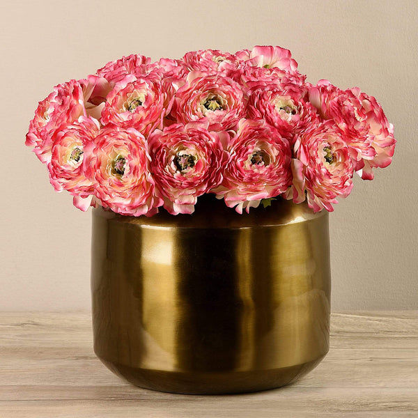 Artificial Ranunculus in Copper Vase Bloomr Artificial Flowers & Artificial Trees